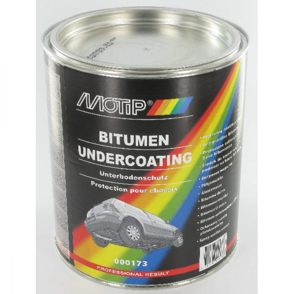 Motip Bitumen pot met penseel 2000 g - 000173 | Goede corrosiewering | 2000 gr l