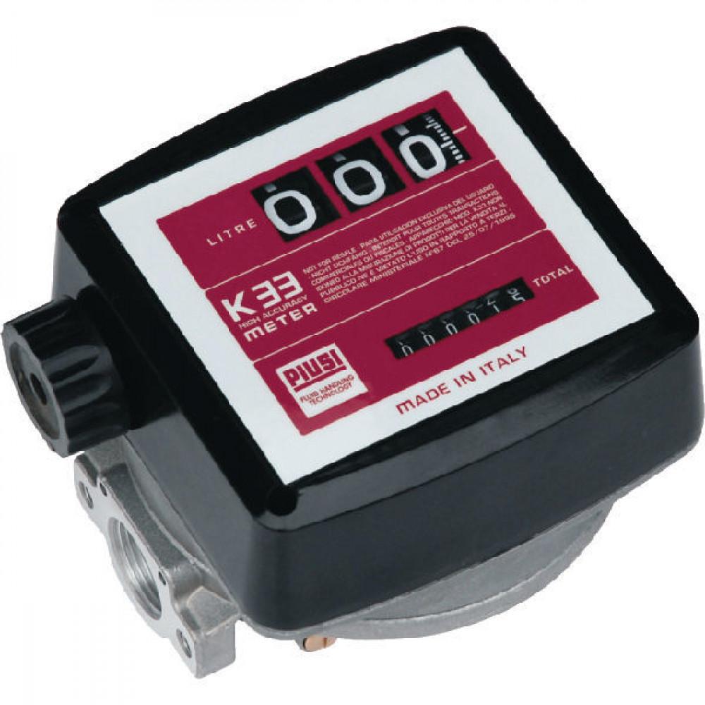 Piusi Literteller mech. K33 3-cijf. - 000550000 | 1 Inch | 20 120 l/min | 10 bar | 180 x 180 x 170 mm | 30 bar