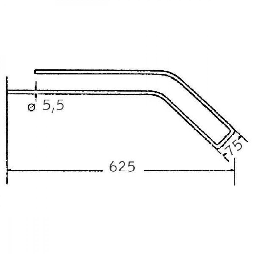Cirkeltand - 0009021111KR | 625 mm | 5,5 mm