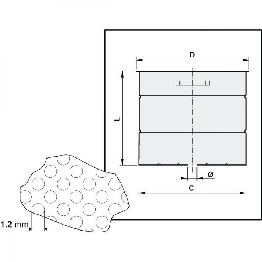 Arag Mandfilter RVS - 006960 | 382 mm | 400 mm | 333 mm