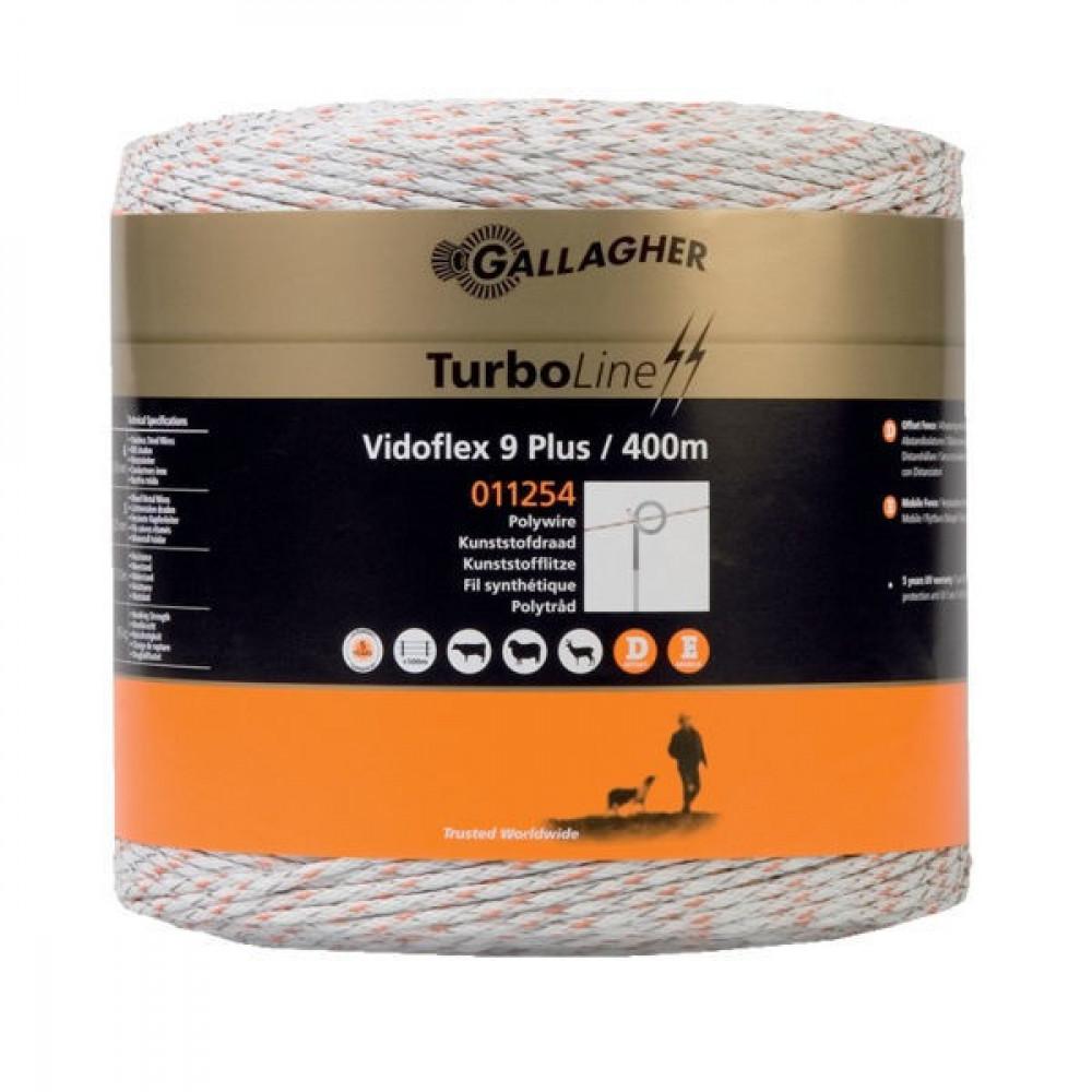 Gallagher Vidoflex 9 400m wit - 011254GAL   Voor lange afrasteringen   3 mm   6 mm
