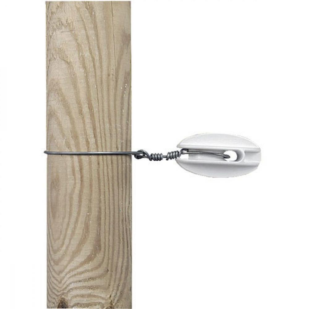 Gallagher Hoekisolator S wit versterkt (100) - 012022GAL   100 mm