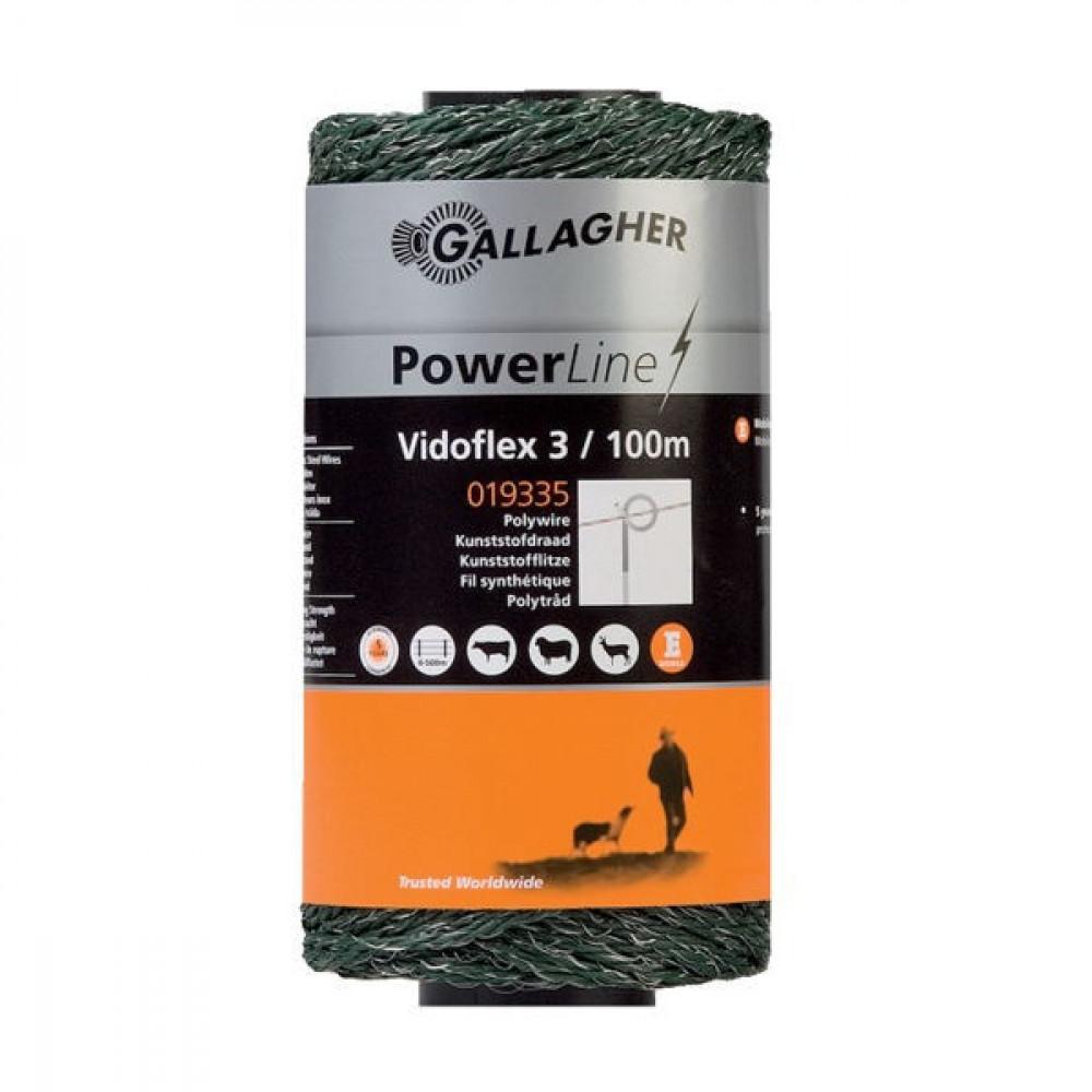 Gallagher Vidoflex 3, 100m groen - 019335GAL   Uitstekende geleiding   6 mm