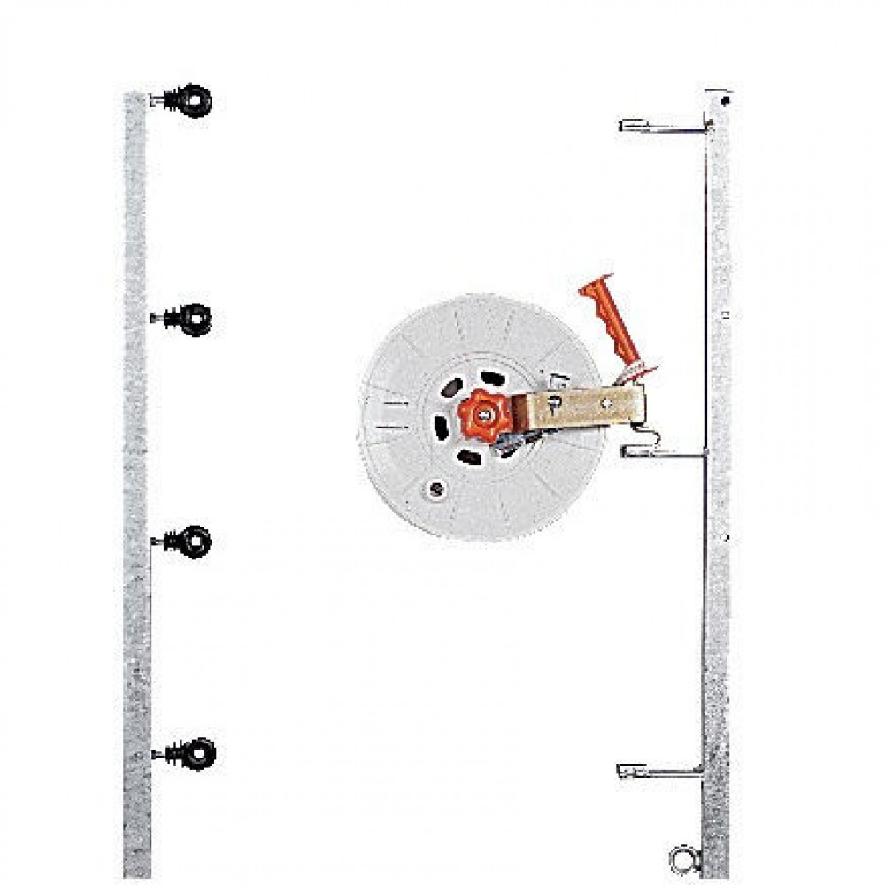 Gallagher Montagepaal 1,85 m voor 4 haspels - 022236GAL