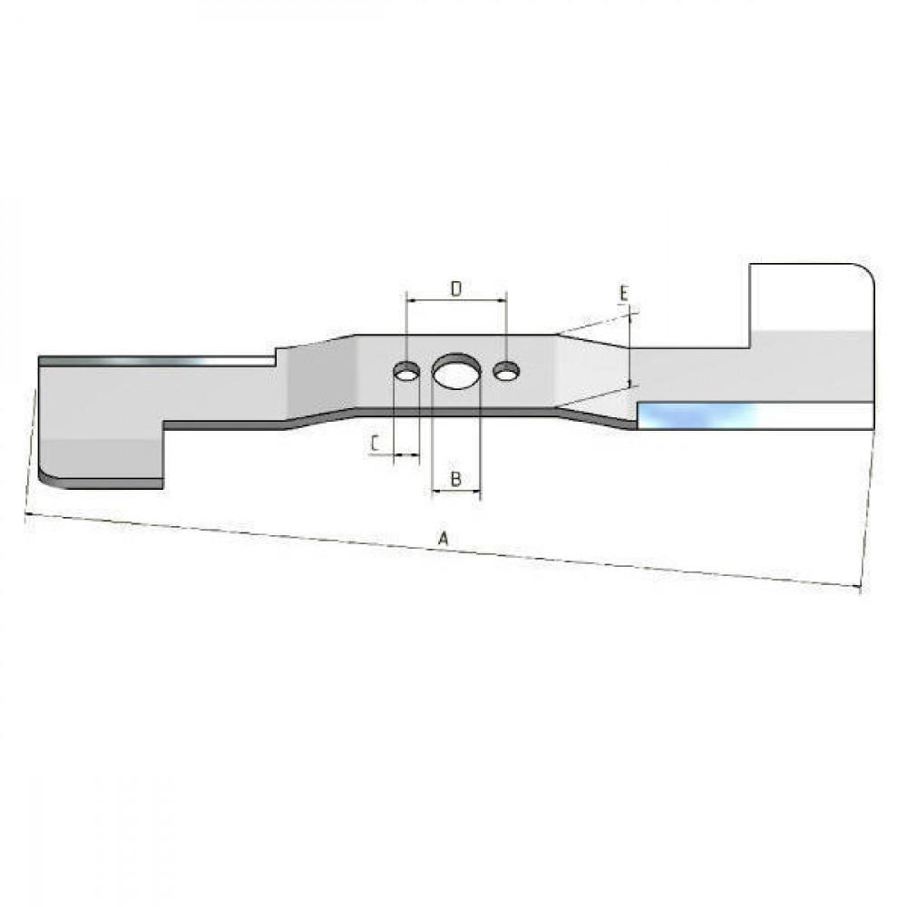 Maaimes Solo 72cm - 0227300030 | 0,72 m | 14 / - | 50.9 / 102 mm | 3440541 | 221600810 | Universeel / Hobby | Model 530, 531 , 532