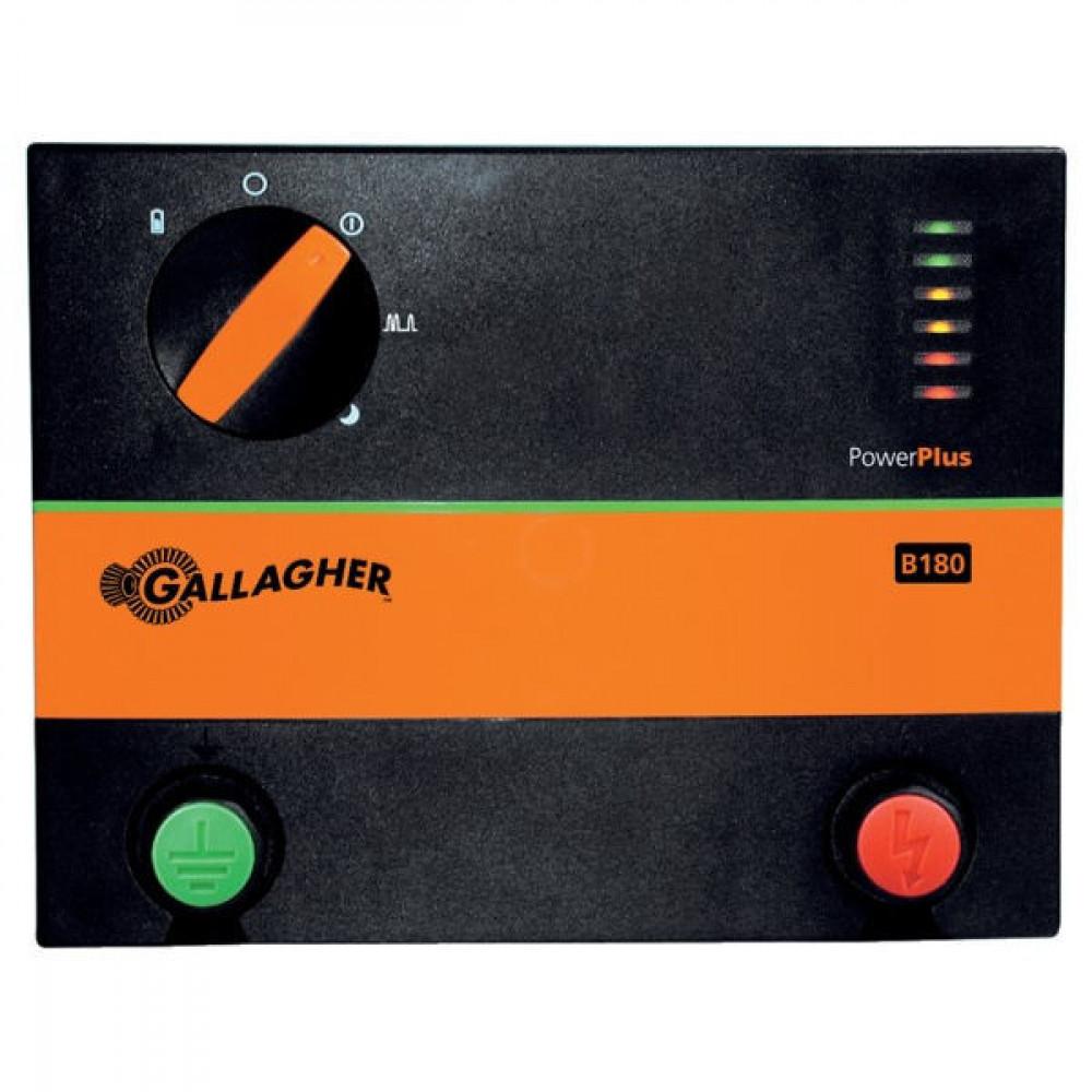 Gallagher PowerPlus B180 - 028450GAL | 8400 V | 4400 V | 1,3 Joule | 1,25 Joule | 3x1,0m | 140 mA
