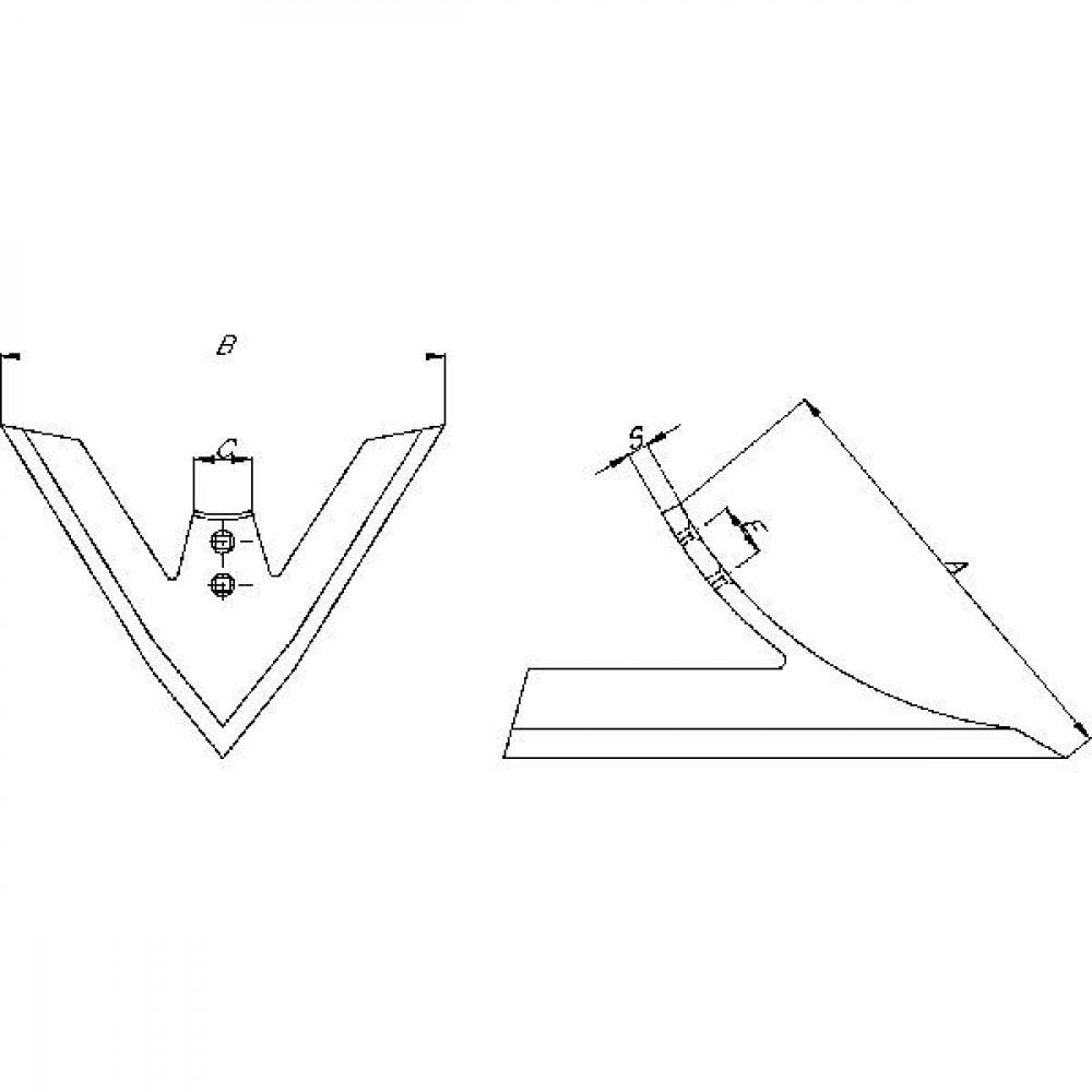 Ganzenvoet Niemeyer - 031051 | 230 mm | 300 mm | 12851092N | C= halfrond