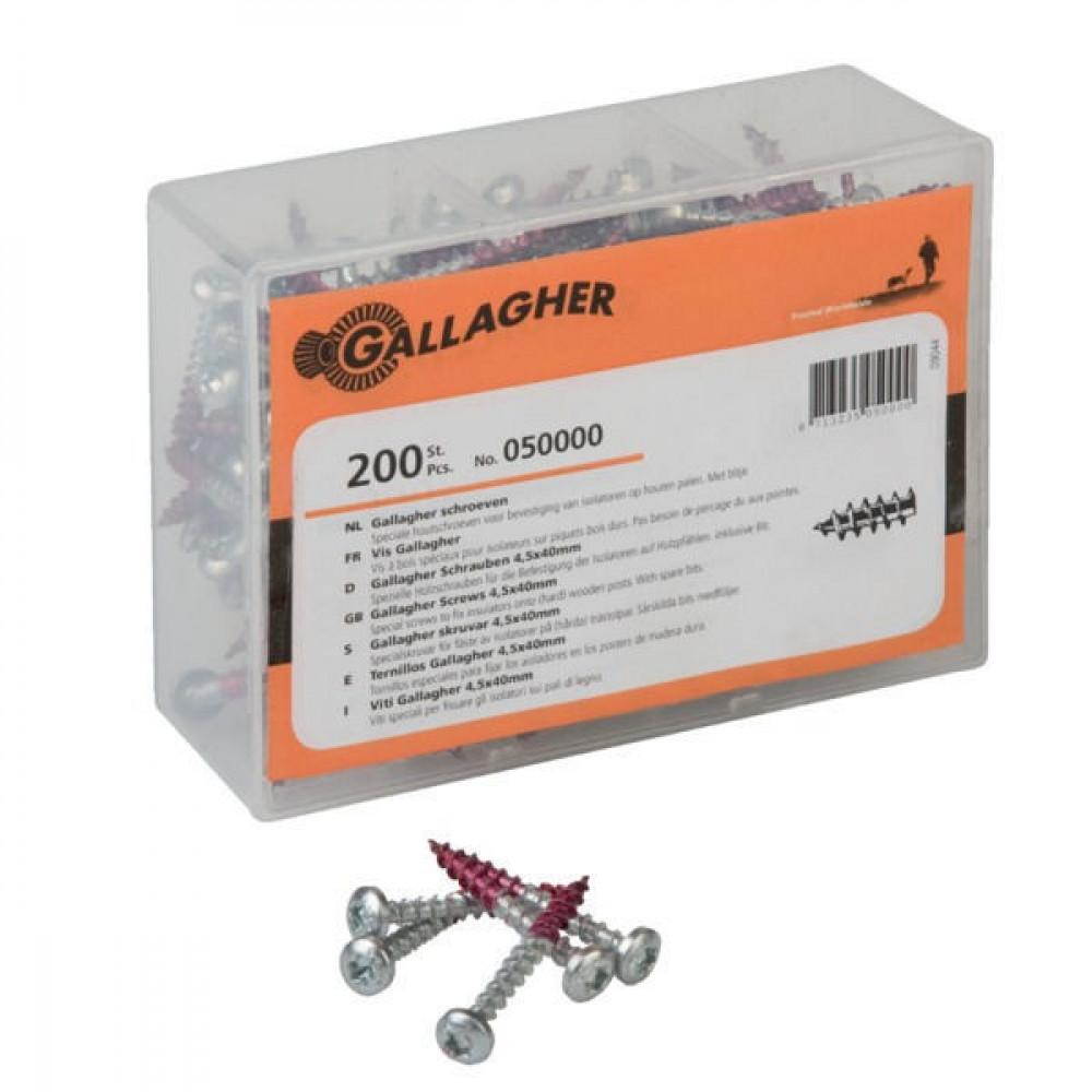 Gallagher Gewaxte torxbouten 4,5x40 mm - 050000GAL | Met waxlaag | Voorboren is overbodig