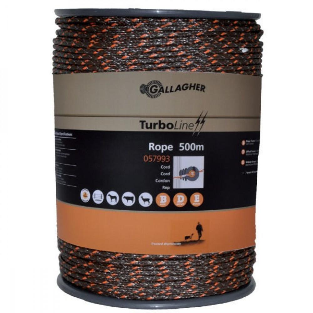 Gallagher TurboLine Cord Terra 500m - 057993GAL | Soft-touch cord | 225 kg | 0,1 Ohm Ohm/m | 3 mm | 8 mm