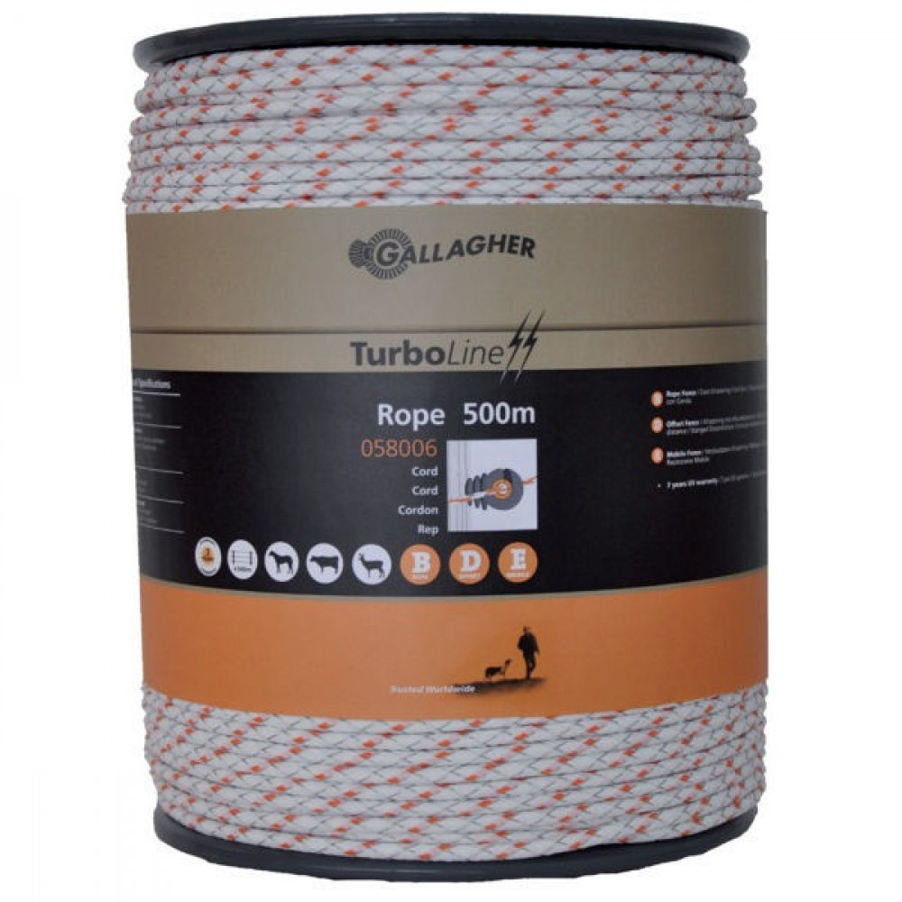 Gallagher TurboLine Cord 500m wit - 058006GAL | Soft-touch cord