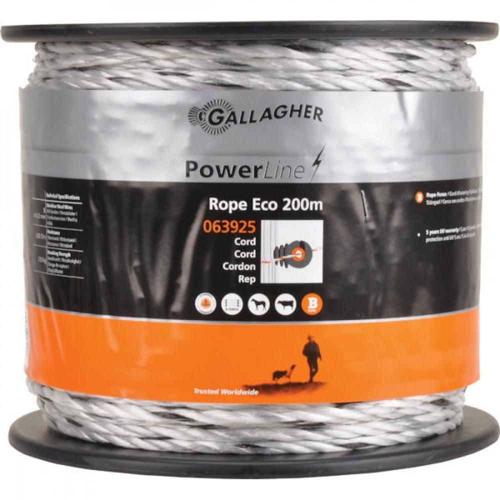 Gallagher Powerline-koord Eco wit 200 m - 063925GAL | UV-bestendig | Duurzaam