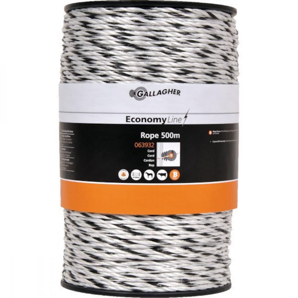 Gallagher Powerline-koord Eco wit 500 m - 063932GAL | UV-bestendig | Duurzaam