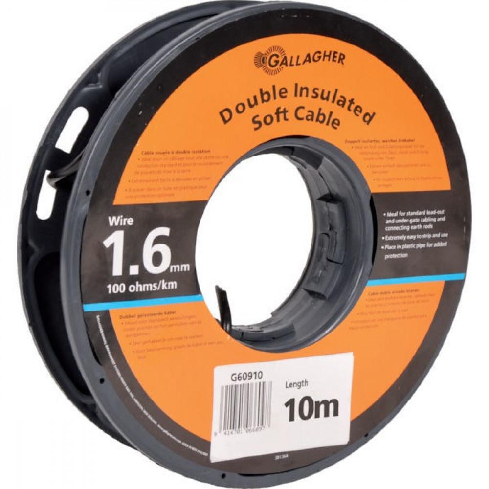 Gallagher Dubbelgeïsol. kabel 1,6mmx10m - 065028GAL