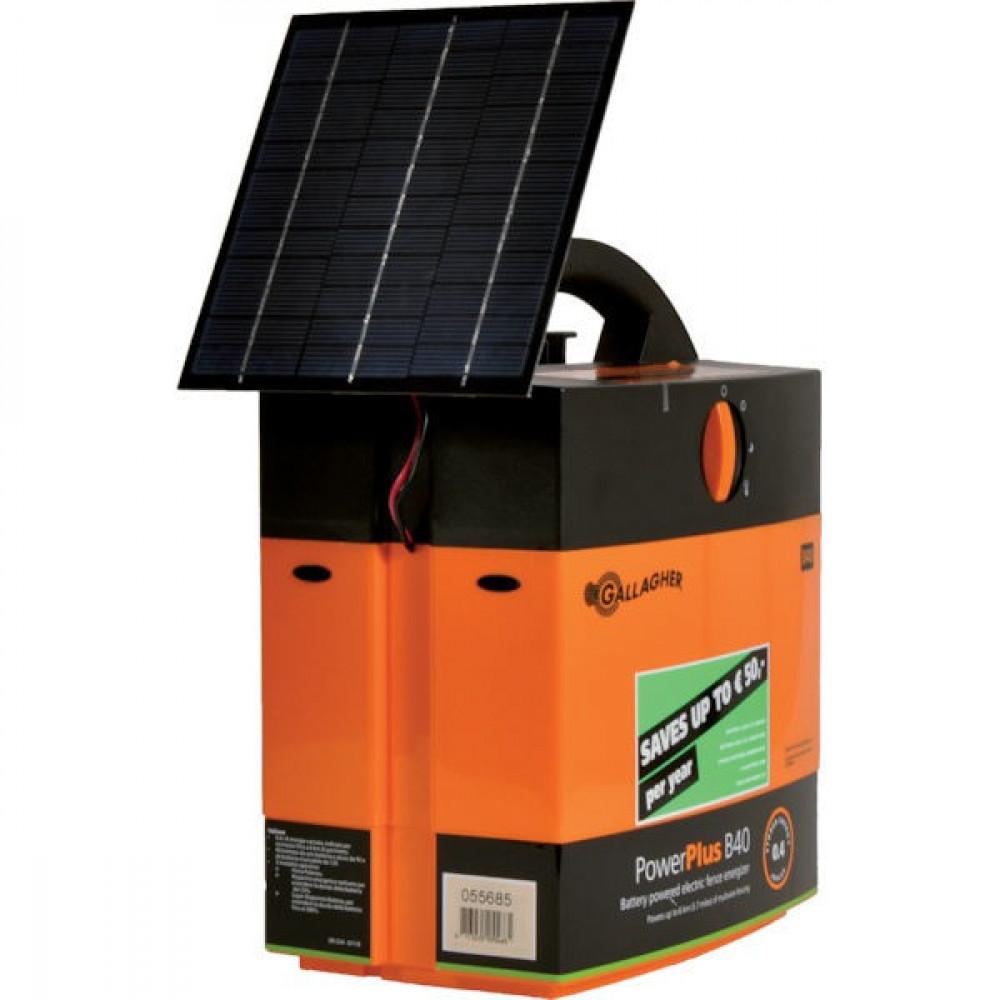Gallagher B40 + solarmodule met 4 W - 068579GAL | 9 / 12 V | 8800 V | 2700 V | 0,4 Joule | 0,27 Joule | 1x0,5m