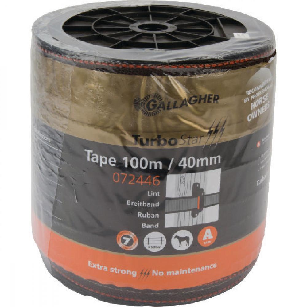 Gallagher TurboStar lint 40mm terra 100 - 072446GAL | 7 jaar UV-garantie | 520 kg | 0,06 Ohm Ohm/m | 0.2 mm