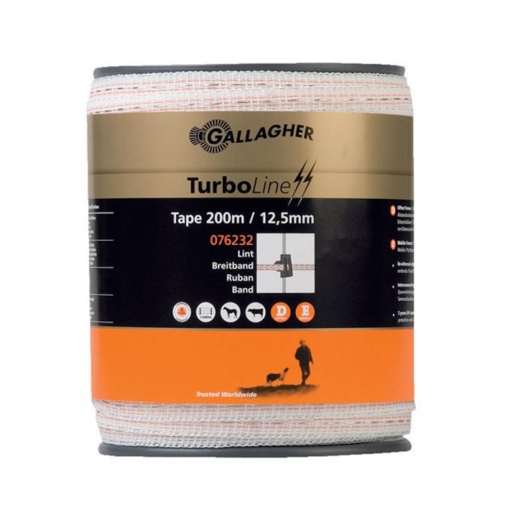 Gallagher TurboLine schriklint 12,5mm 200 m wit - 076232GAL   5 jaar UV-garantie   12,5 mm