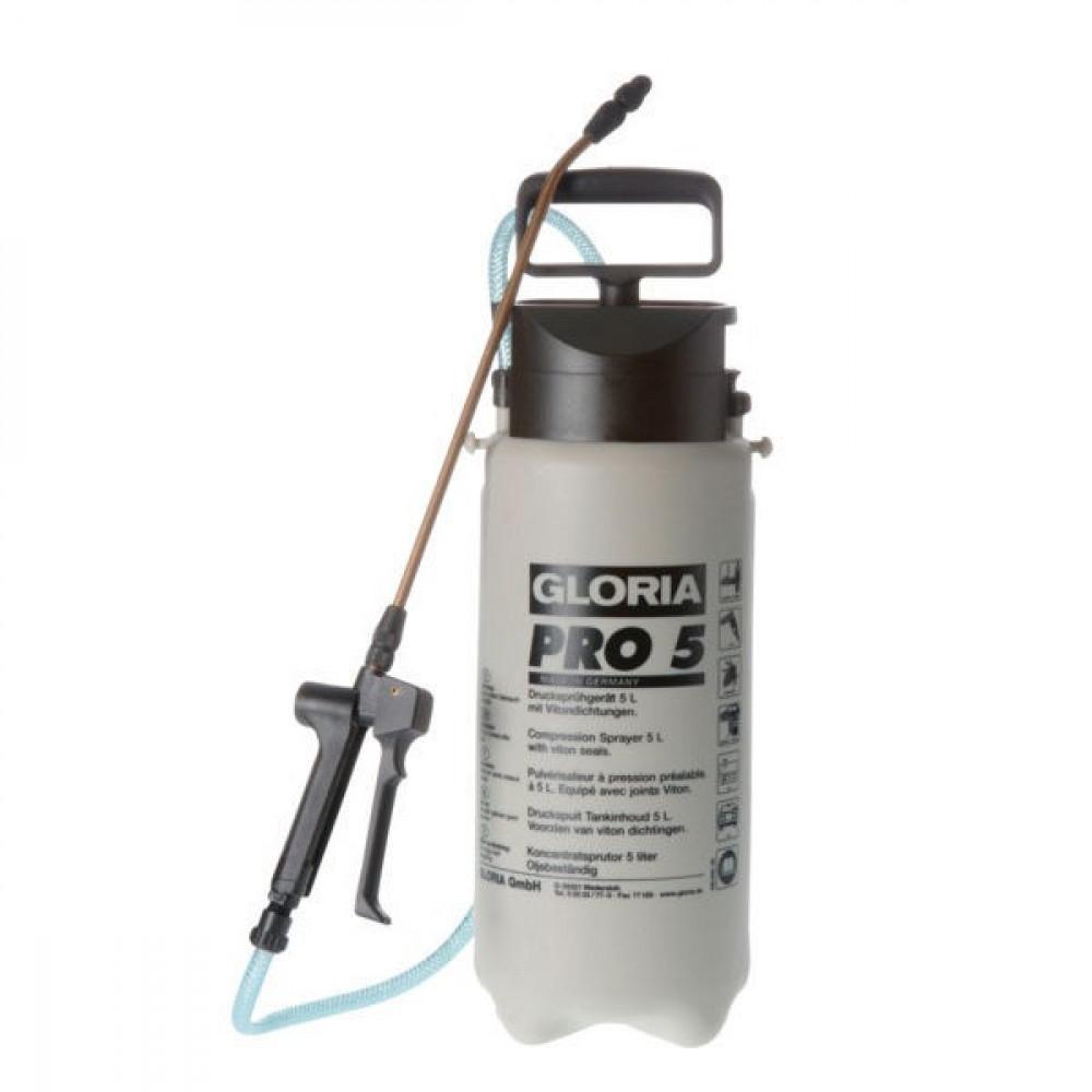 Gloria Drukspuit Pro 5 (5 L) OB - 0810725GL | 081.0725 | Oliebestendige uitvoering | 1,9 kg