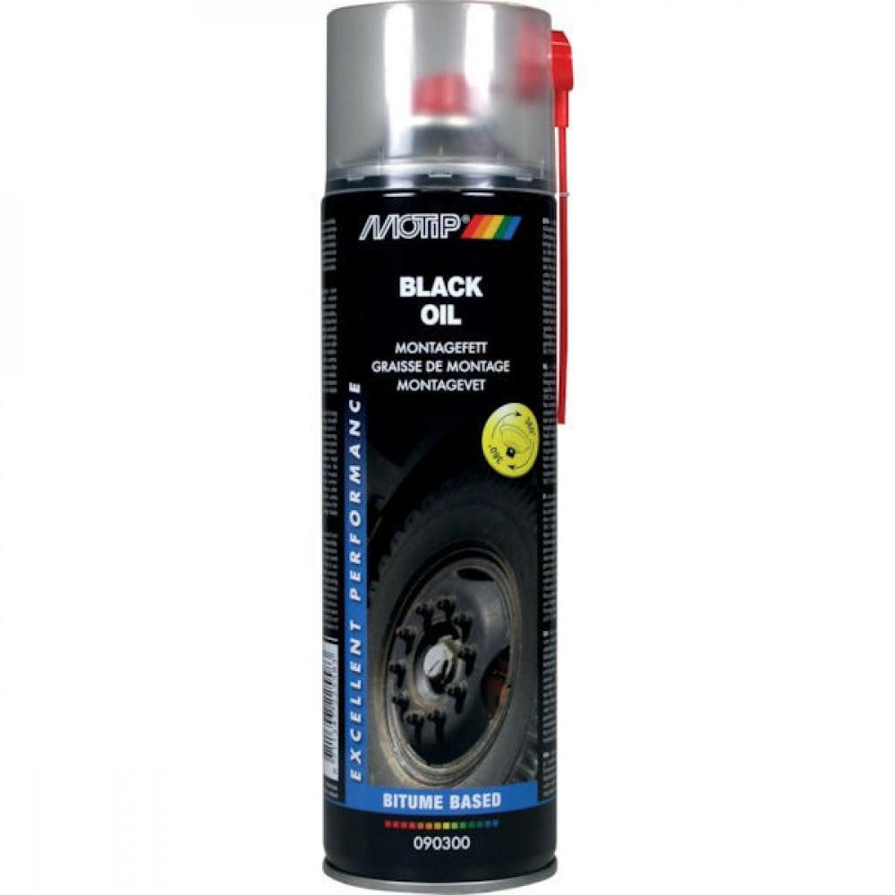 Motip Zwart montagevet 500 ml - 090300