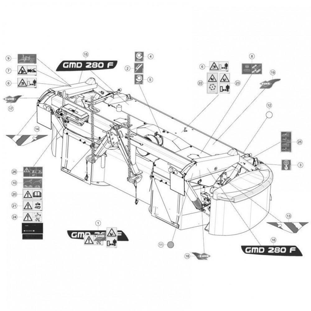Kuhn Sticker 1000 Min-1 RI. - 09915100   1000 Min-1, Aant.1