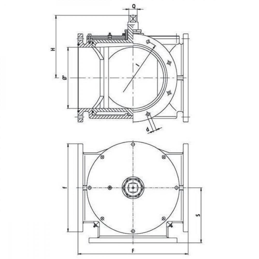 "MZ Driewegkraan 10"" - 10000002 | 450 mm | 255,5 mm | 320 mm | 225 mm | 360 mm | 10"" Inch"