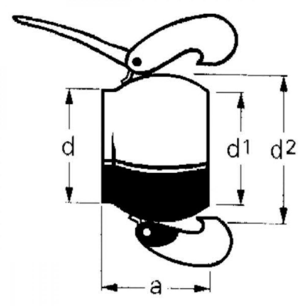KKV 50mm blindkap + handgreep Bauer - 1006955 | 52 mm | 70 mm | 2 Inch