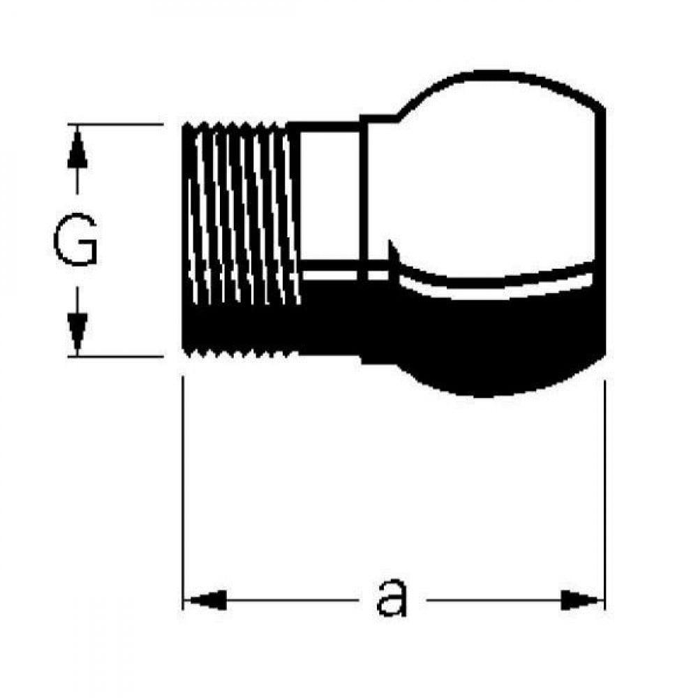 """Bauer Kogel 3"""" met buisschroefdraad 2 1/2"""" - 1030801   2 1/2 BSP   3 Inch"""