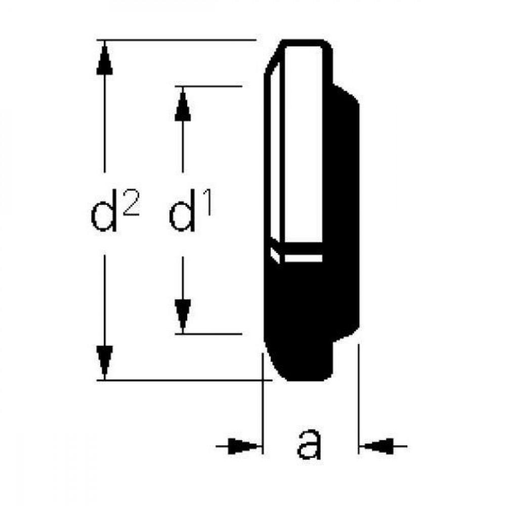 Eindkap 108mm Bauer - 1050201   Zonder O-ring   145 mm   167 mm   4 Inch
