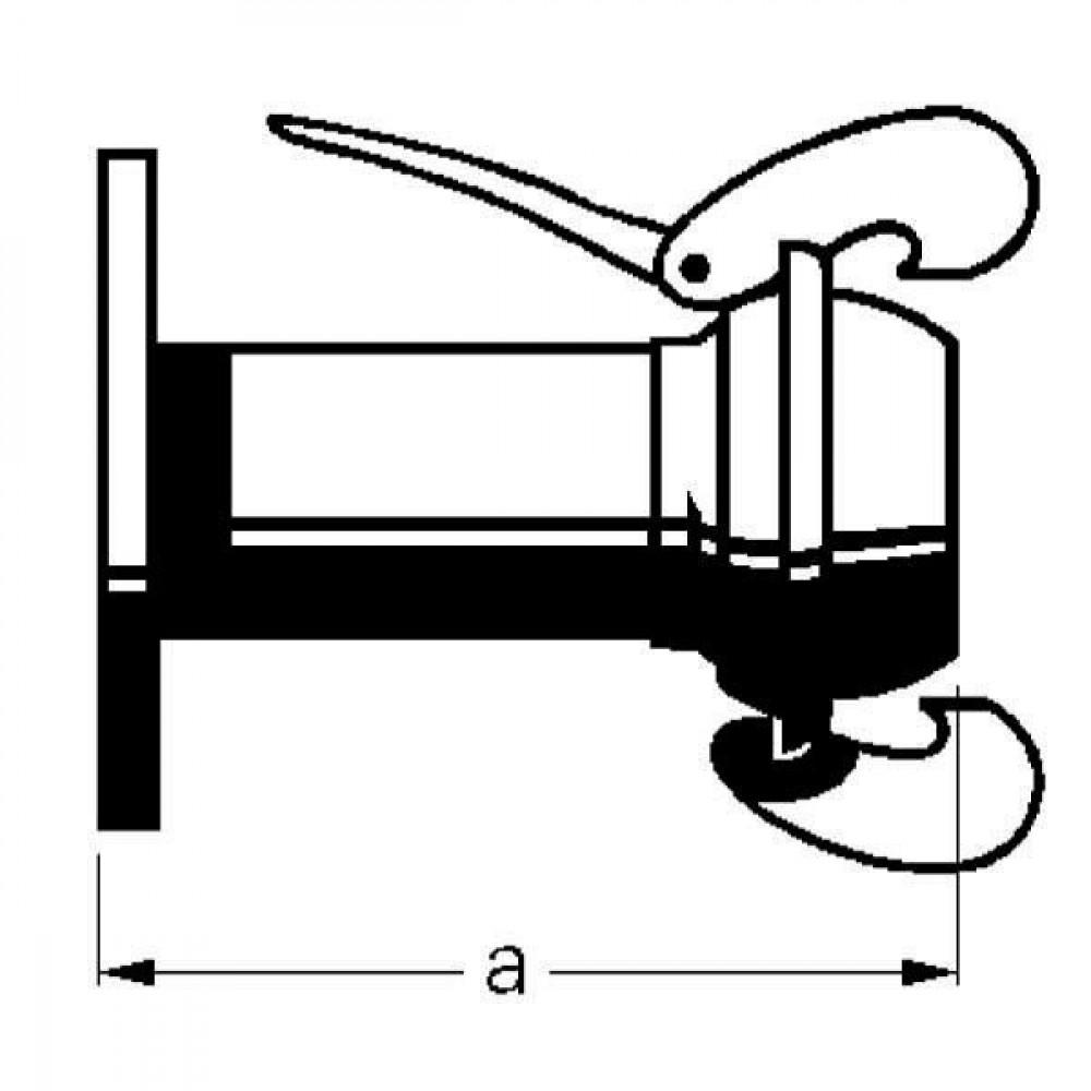 Bauer Flensafdichting met kogel - 1052500   Verzinkte uitvoering   Lange levensduur   Exclusief o-ring   4 1/4 Inch   293 mm   220 mm   180 mm   8 x 18 mm