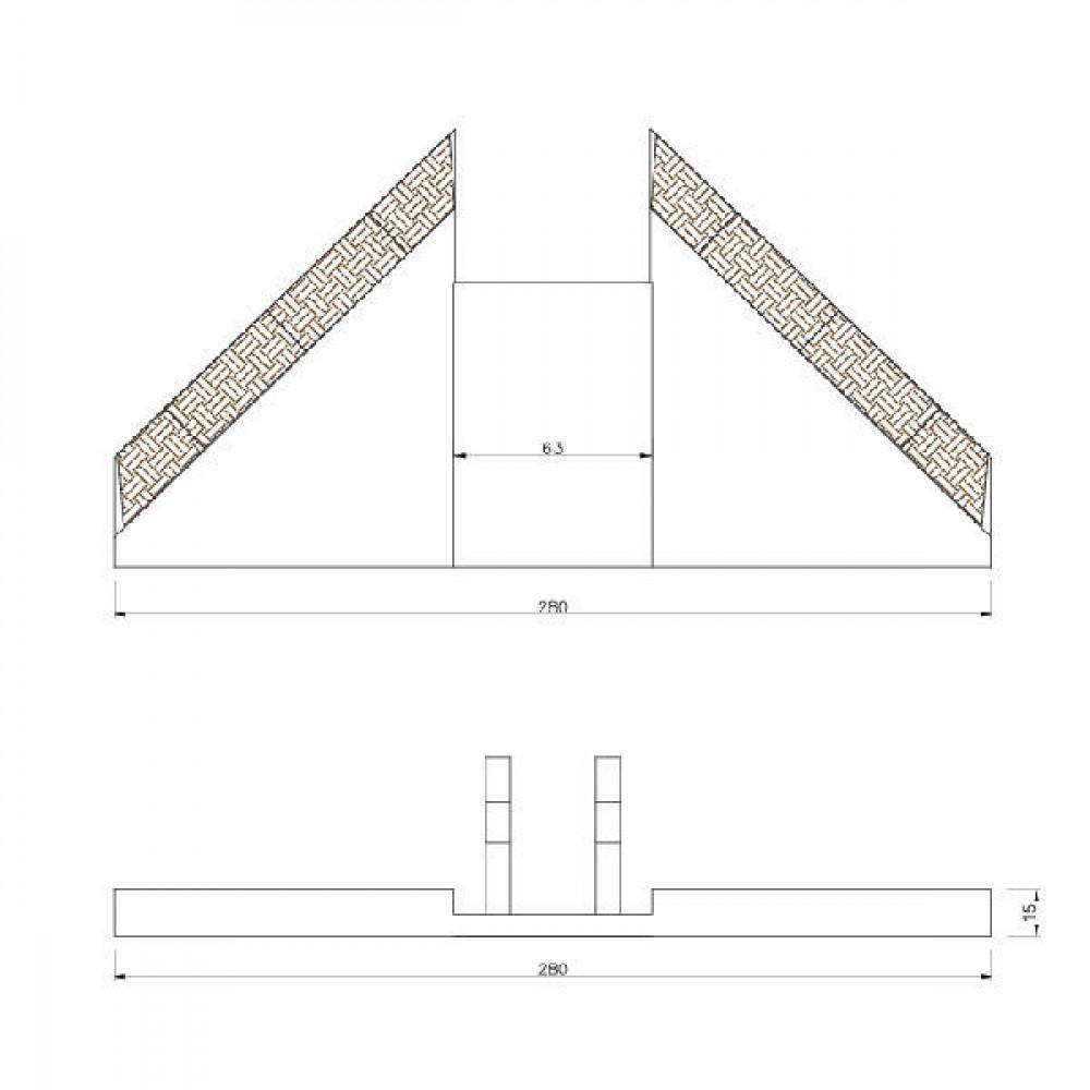 Vleugel voor Discodent - 107803700CN | 280 mm | 280 mm