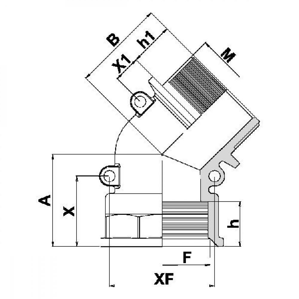 "Arag Bocht 45° 2"" AG-IG - 127077 | 2"" Inch BSP | 2"" Inch BSP"