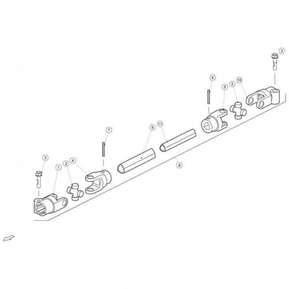 Spanstift 8x60 - 1481860   Aant.1   80450860   8 x 60 mm   DIN 1481   1,34 kg/100