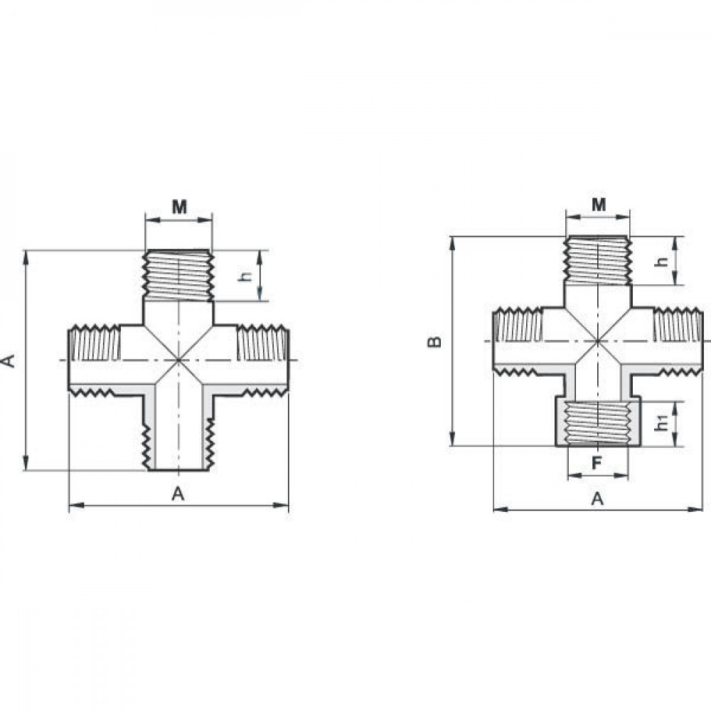 "Arag 4-weg koppeling 1/2"" bu - 150020 | 16 mm"