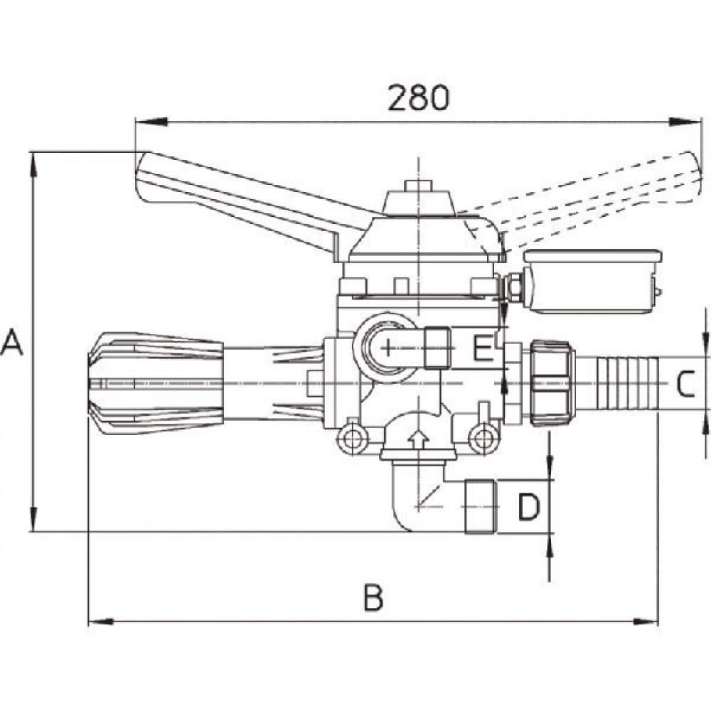 "Braglia Drukreduceerventiel 3/4"" 50 bar - 1702068 | 50 bar | 180 mm | 270 mm"