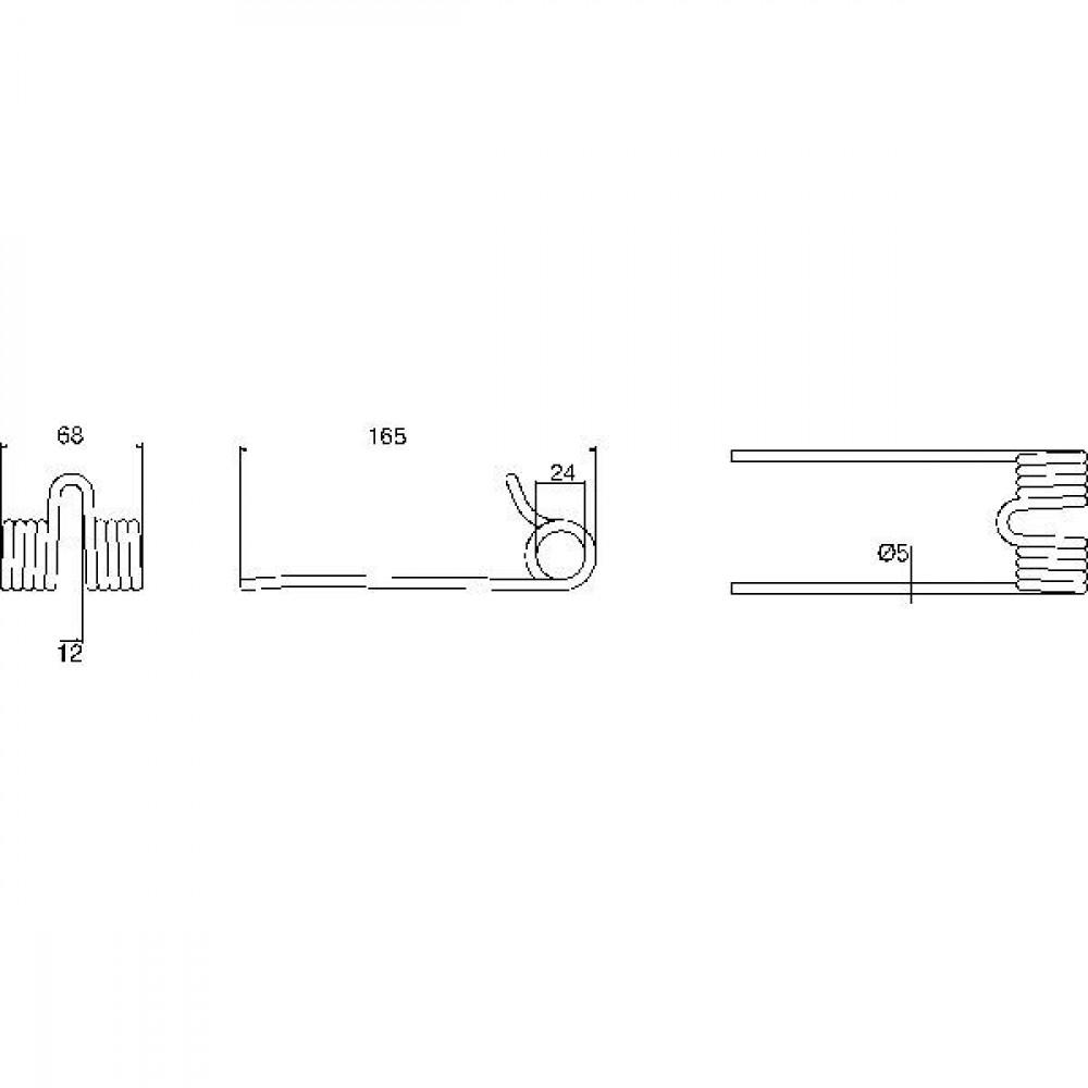 Pick-up tand Krüger - 181N | 165 mm | EL, ELD, ELS, ELL, ELT