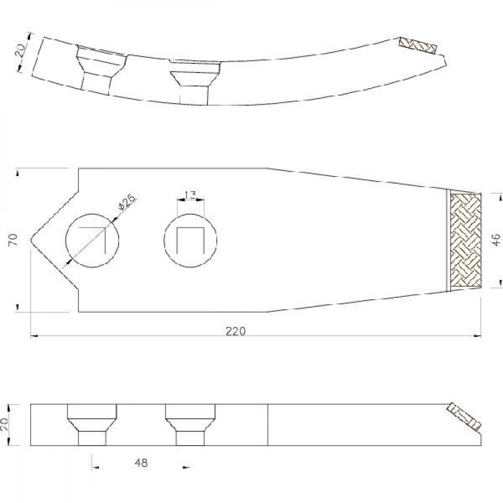 Cultivatorbeitel carbide - 2111200020CN
