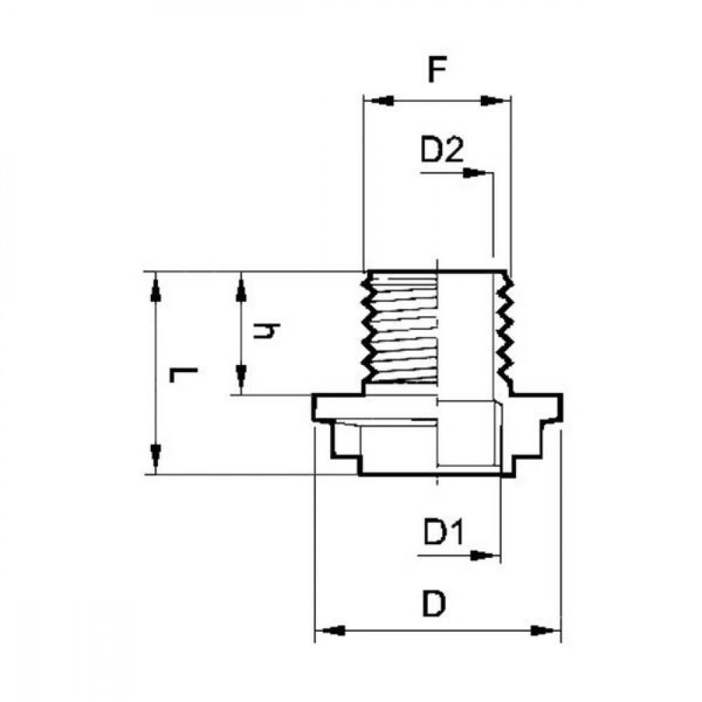 "Arag Dubbele nippel bi/bu M24x2x1/2"" - 225224 | 40 mm | 1/2"" mm | M 24 x 2 Inch BSP"
