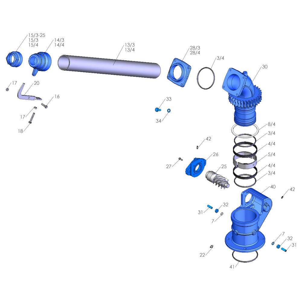 Battioni Pagani Hydrauliekmotor BP BG315 - 2601DF | 162,5 mm | 38,1 mm | 53,5 mm | 6 bar | 60 l/min | 2,7 Rpm | 80 bar | 165 bar | 220 Nm | 315 cc