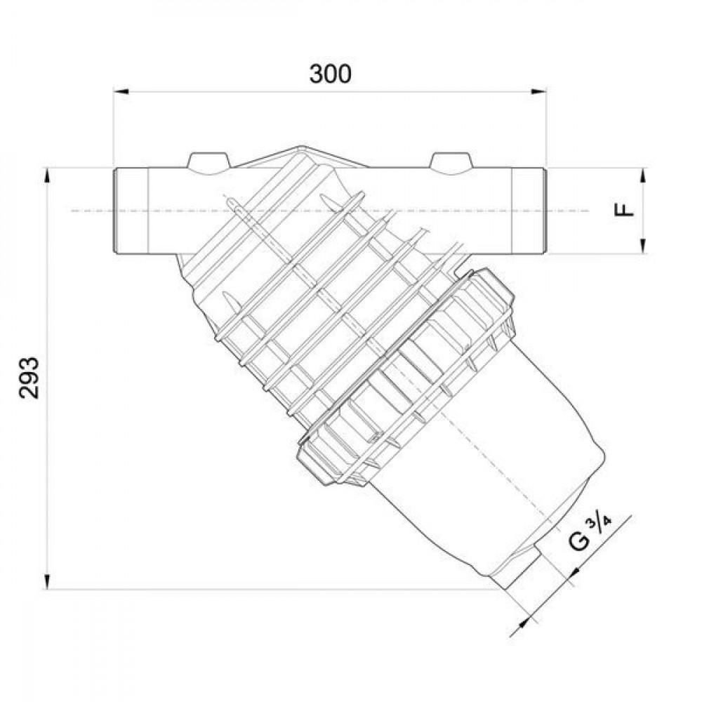 "Arag Filter cpl. 2"" 32 Mesh - 3332072 | max 380 l/min l/min | 2"" BSP"