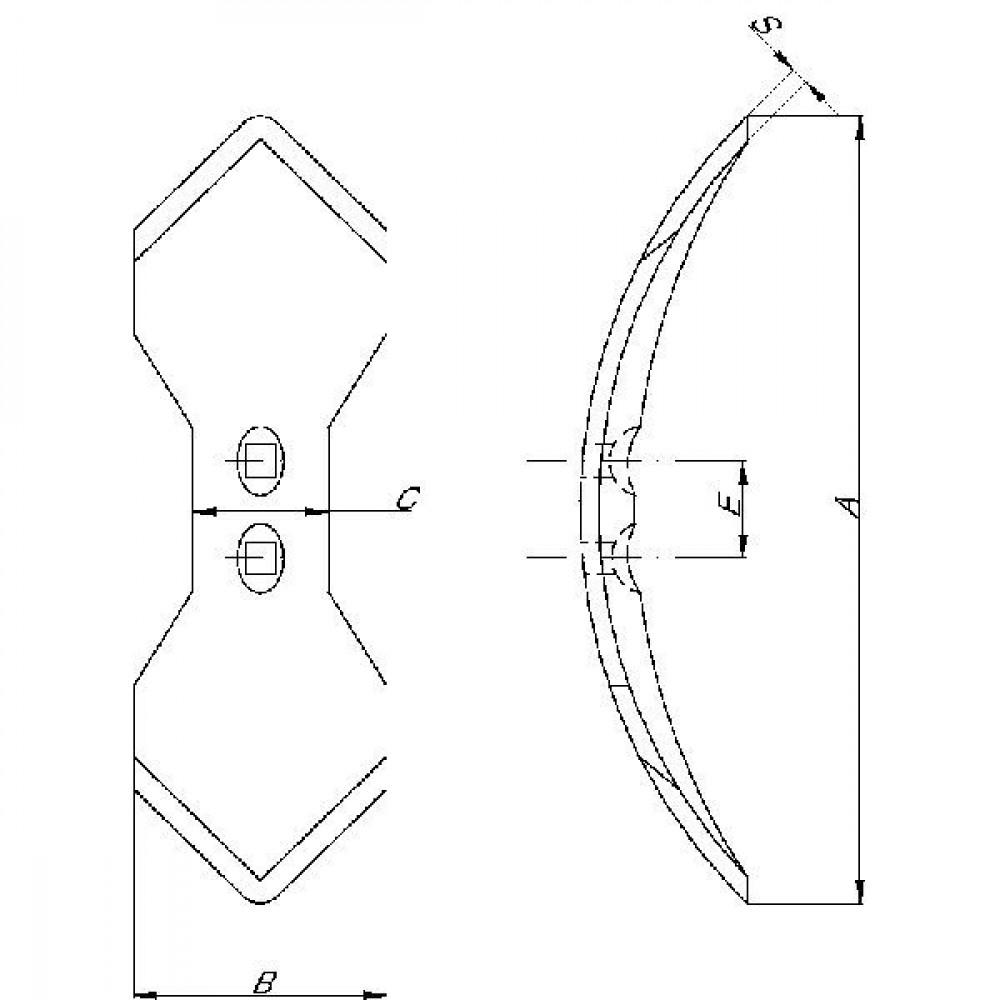 Schaar VS33 8x300 L./R. Lemken - 3374361 | 337.4361 | 300 mm