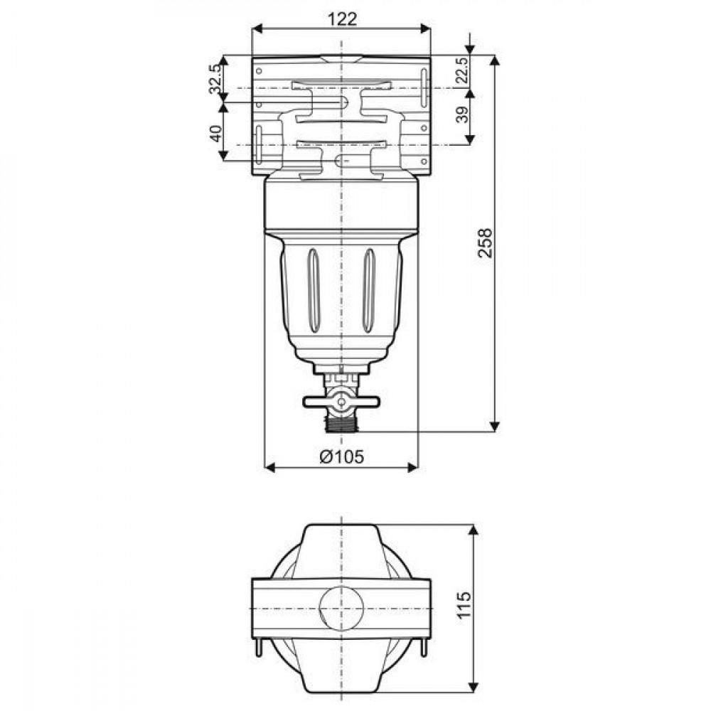 Arag Filter 150l. 50bar - 3452013910 | 50 bar | 150 l/min | 258 mm