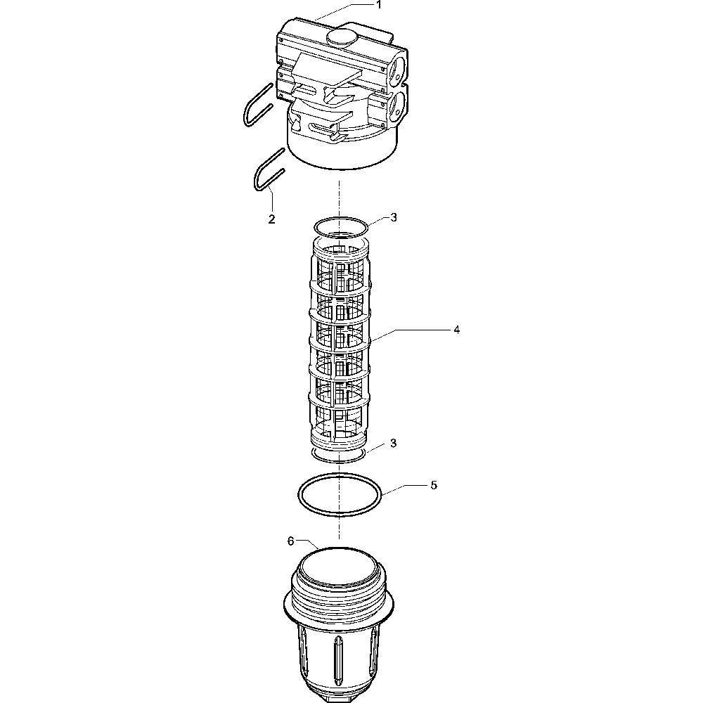 Arag Filter 150l. 50 bar - 3452113910 | 50 bar | 150 l/min | 218,5 mm