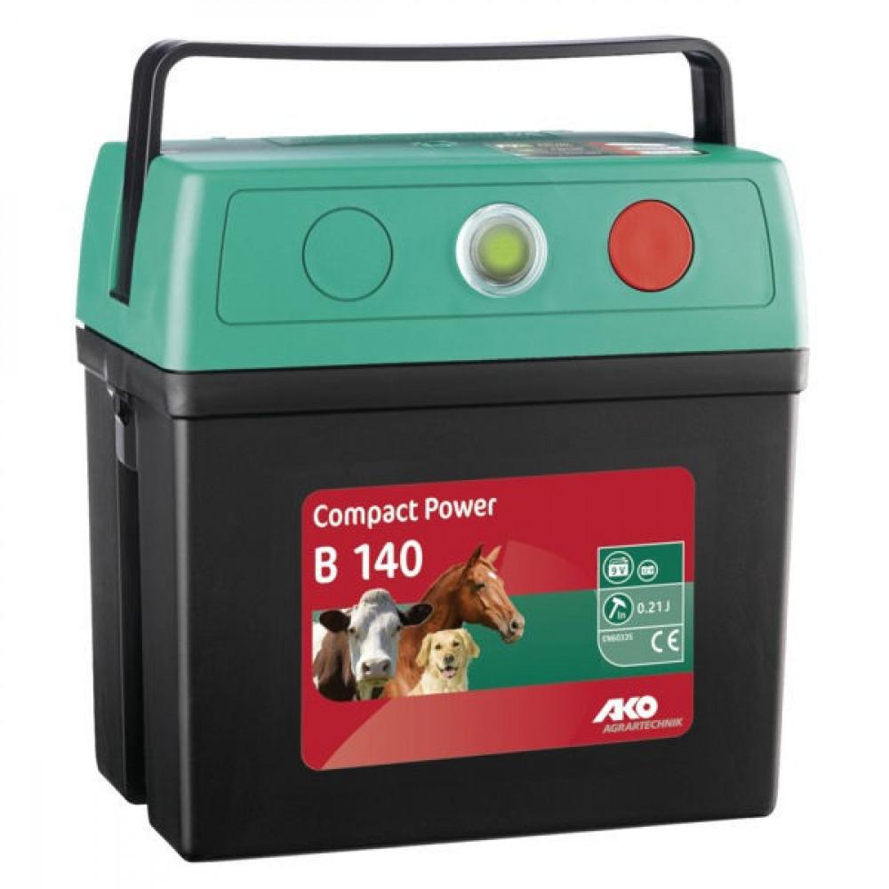 AKO Batterijapp. CompactPower B140 - 350330 | 3 jaar garantie | 7000 V | 2000 V | 0,18 Joule | 0,15 Joule | 3,5 km | 0,5 km