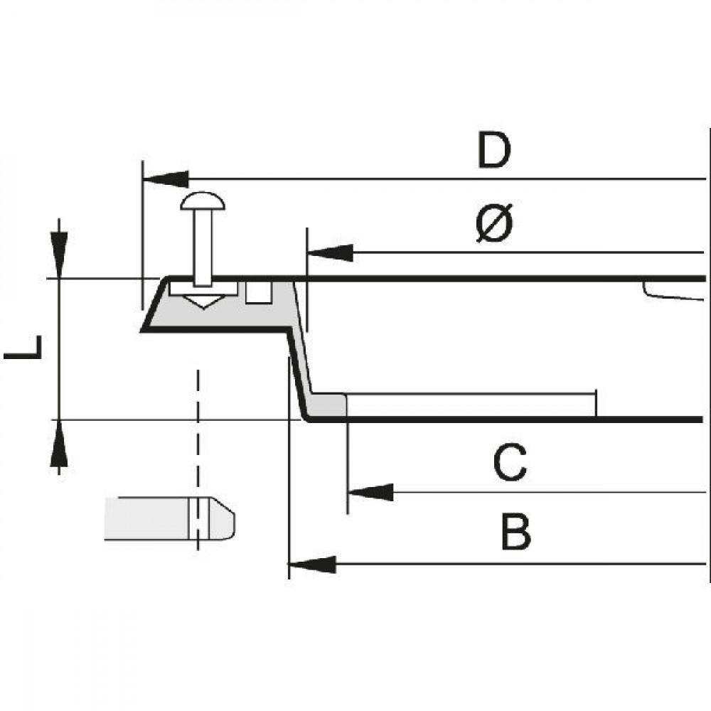 Arag Dekselmontagering vlak - 350401 | 125 mm | 114 mm | 159 mm | 120 mm | 17 mm | Vlakke montage | Verticaal