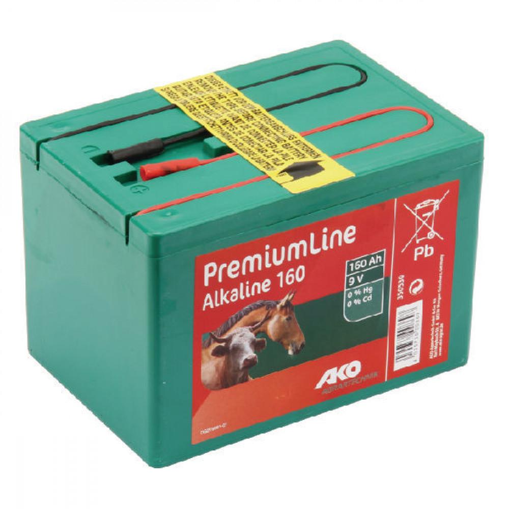 AKO Alkaline batterij gr. 9V-160 Ah - 350530 | Lange levensduur | Kwiken cadmiumvrij | 165 x 110 x 110 mm | 160 Ah