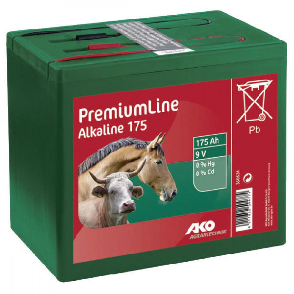 AKO Alkaline batterij gr. 9V-175 Ah - 350531   Lange levensduur   Kwiken cadmiumvrij   190 x 125 x 160 mm   175 Ah
