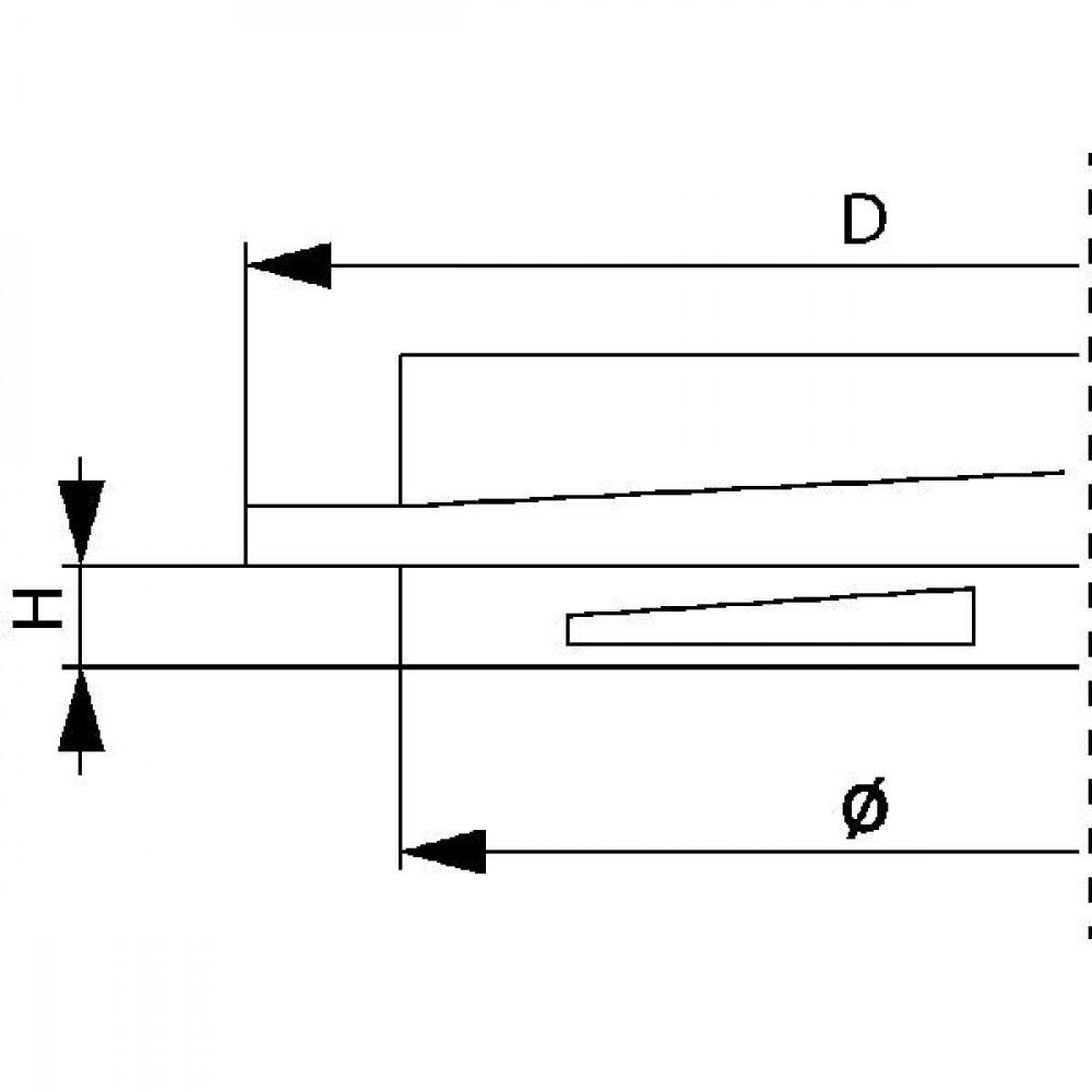 Arag Schroefdeksel dicht 140mm - 3522100AV | 140 mm | 110 mm | 10 mm