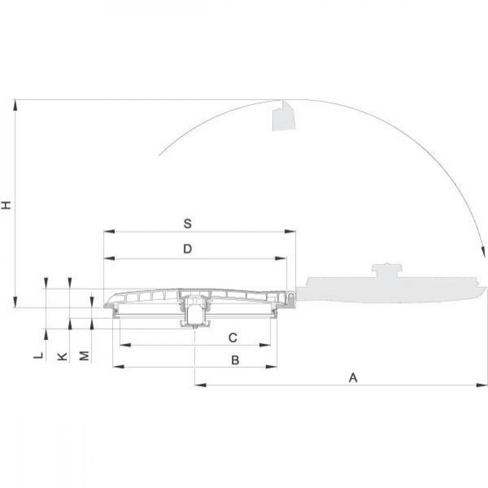 Arag Dekselmontagering vlak - 3562060020 | Vlakke montage | Verticaal | 382 mm | 462 mm | 486 mm | 26,5 mm