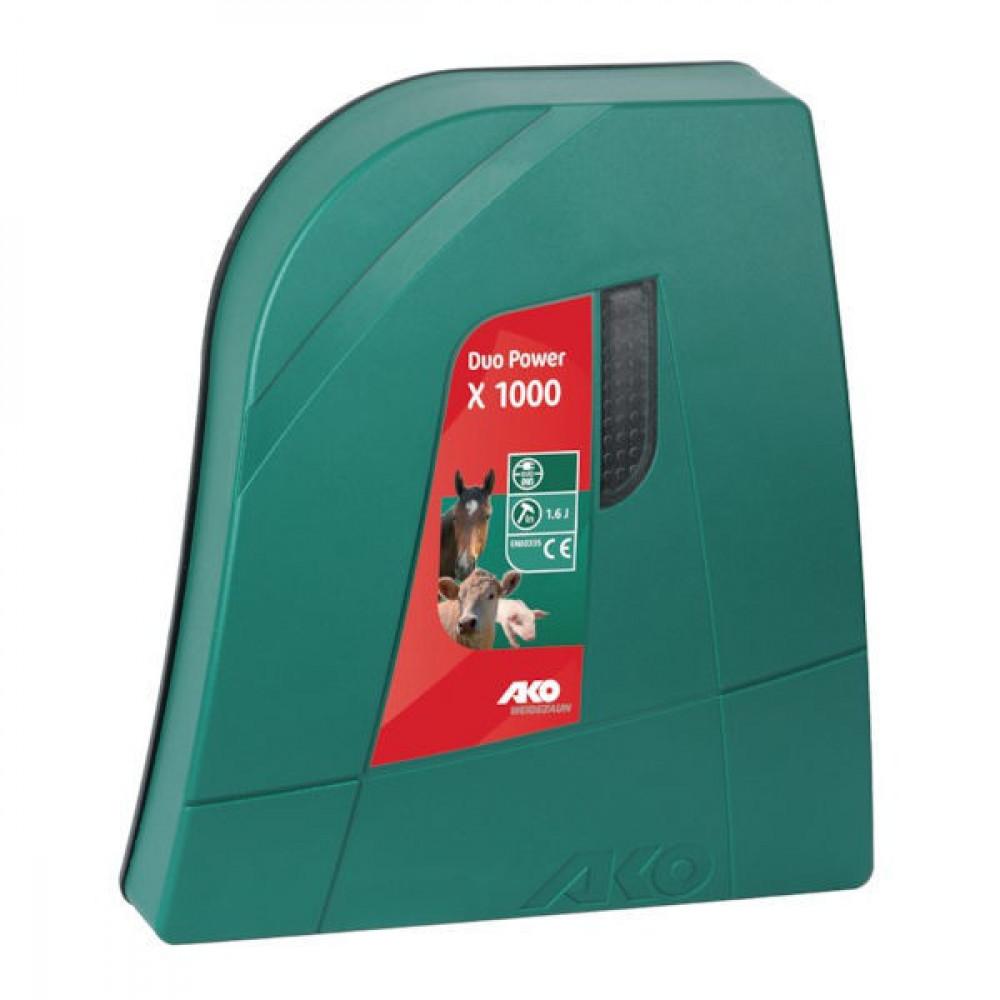 AKO Duo-Power X1000 Combi - 372871   Energiebesparende modus   3 jaar garantie   12 / 230 V   12000 V   4100 V   1,6 Joule   1 Joule   1,5 km   0,5 km