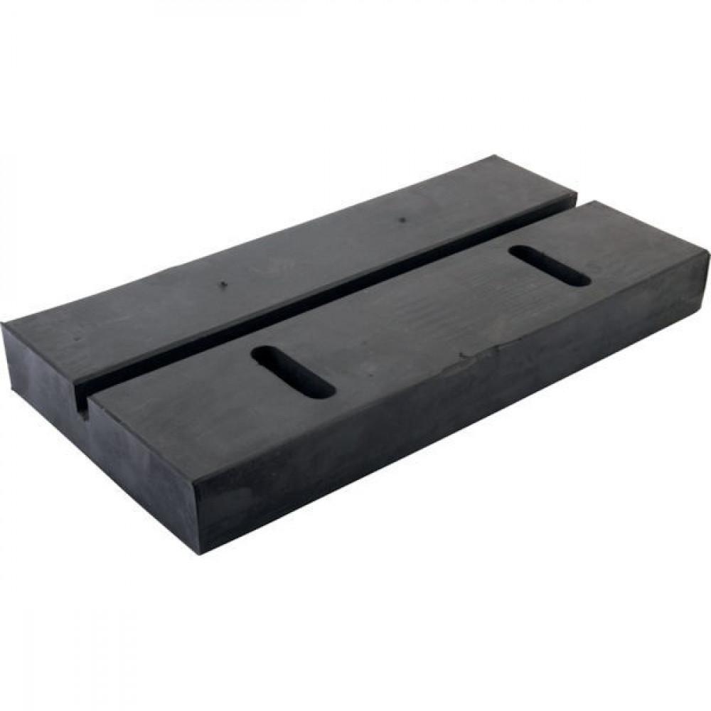 Slijtstrip 400x50 - 40050G1 | Geluidsabsorberend | Rubber | 80 ° Shore A | 400 mm | 400 mm | Met bouten