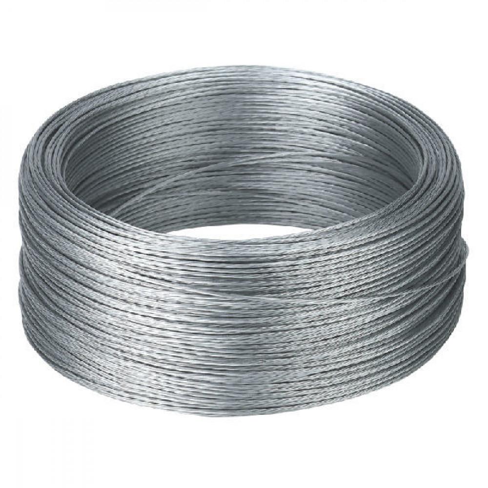 AKO Draad verzinkt 200 m - 44500 | Flexibel | Eenvoudig te verleggen | 7 draden gebundeld | 1.5 mm | 150 kg | 0,15 Ohm Ohm/m